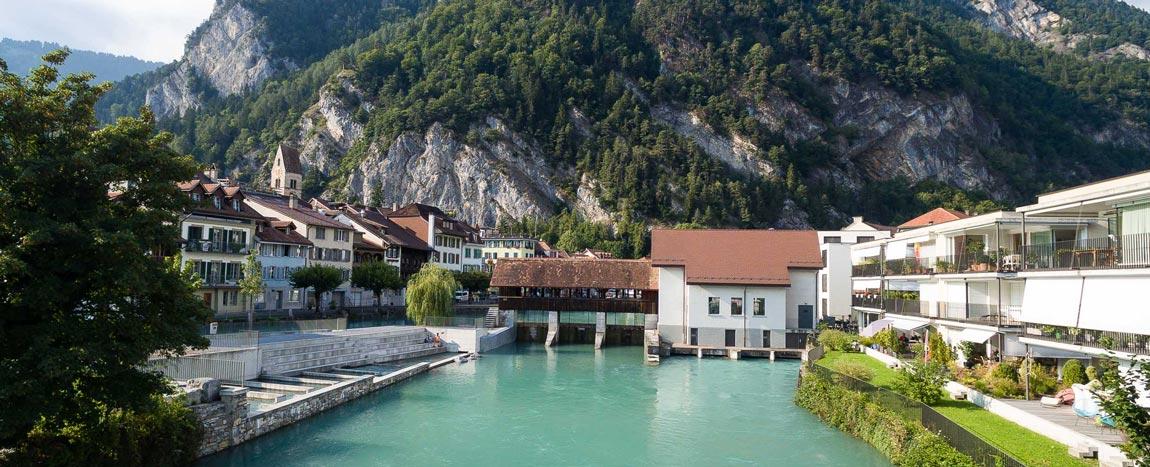 Wasserkraftwerk Unterseen / Schweiz