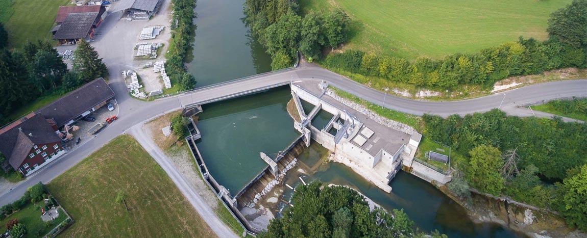 Wasserkraftwerk Bazenheid / Schweiz